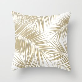 Palm Leaves - Gold Cali Vibes #6 #tropical #decor #art #society6 Throw Pillow