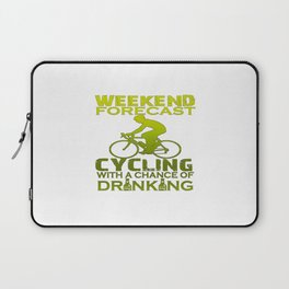 WEEKEND FORECAST CYCLING Laptop Sleeve