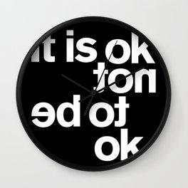 IT IS OK Wall Clock