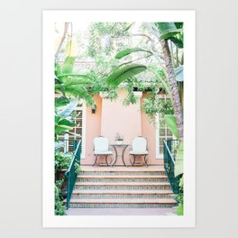 Beverly Hills Hotel Bungalow Art Print