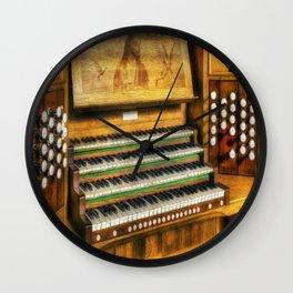 Church Organ Art Wall Clock
