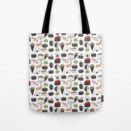 Watercolor Sushi Doodle Tote Bag