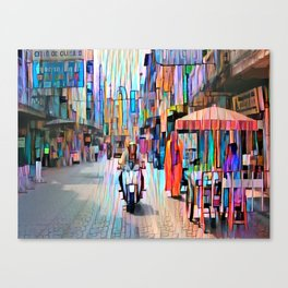 Scooter man Canvas Print