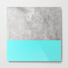 Sea Foam on Concrete Metal Print