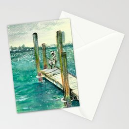 Sitting on the Dock of the Bay Stationery Cards