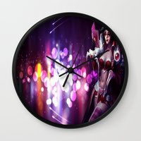 league of legends Wall Clocks featuring league of legends by Niky Boo