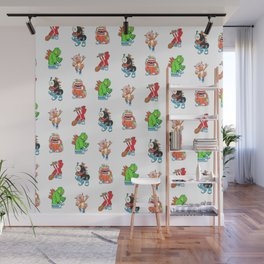 Kaiju Food Monsters Pattern #2 Wall Mural