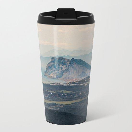 Rock of Gibraltar Metal Travel Mug