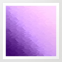 lavender Art Prints featuring Lavender Ombre by Simply Chic