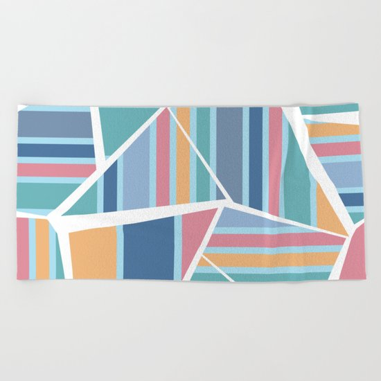 CRAZY STRIPES (abstract pattern) Beach Towel
