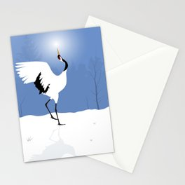 Red Crowned Crane Stationery Cards