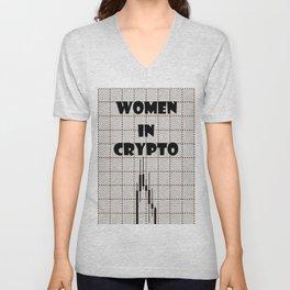Women in Crypto Unisex V-Neck