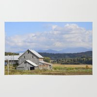 vermont Area & Throw Rugs featuring Vermont Barn by Ashley Callan