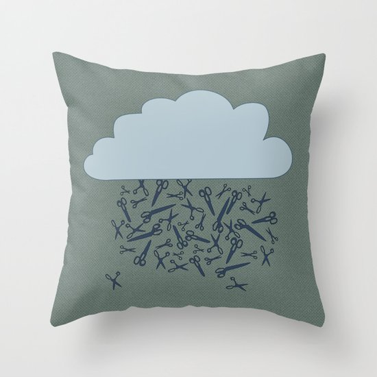 IT'S RAINING BLADES Throw Pillow