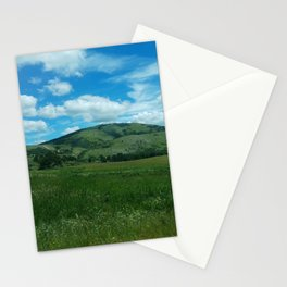 green and blue rapsody Stationery Cards
