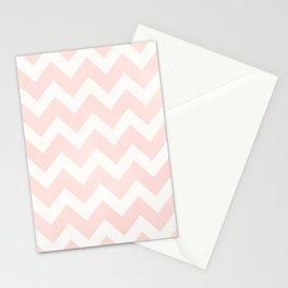 Pink Coral Chevron Stationery Cards