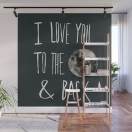 I Love You to the Moon Wall Mural