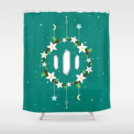 Idiosyncradeck Back Shower Curtain