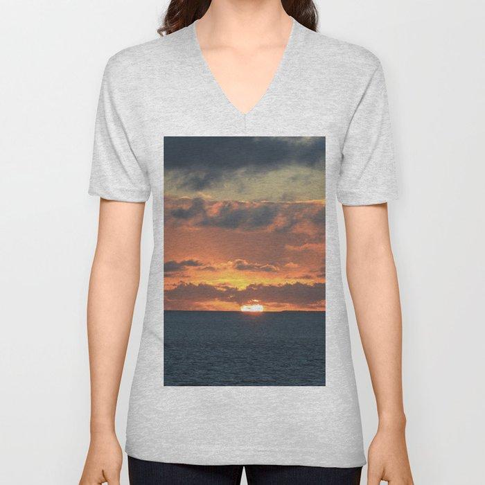 Heavenly Sunset Unisex V-Neck