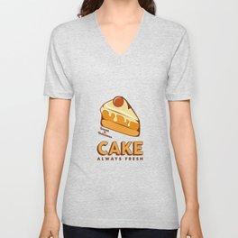 Cakes Cake Signage Poster Retro Rustic Unisex V-Neck
