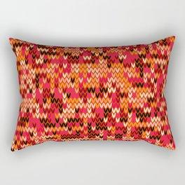 Melange knit textile 3 Rectangular Pillow