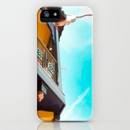 Travel photography Chinatown Los Angeles VII Temple side detail iPhone Case