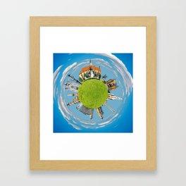 cluj napoca little planet Framed Art Print