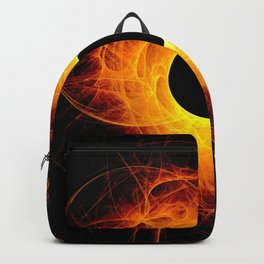 The eye of God  Solar Eclipse on black background Backpack