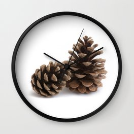 Two pinecones Wall Clock