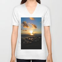 ruben ireland V-neck T-shirts featuring Lahinch, Ireland by American Artist Bobby B