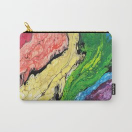 Abstract Rainbow (horizontal) Carry-All Pouch