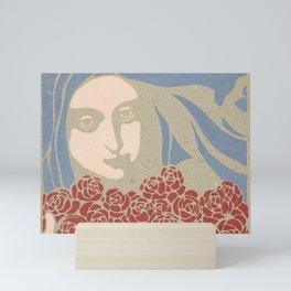 Woman's Head with Roses, Koloman Moser, 1899 Mini Art Print