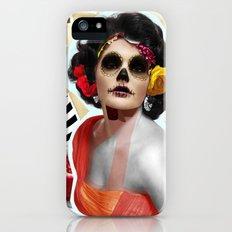 Golden Elizabeth Taylor (Sugar Skull Variant)  By Zabu Stewart iPhone (5, 5s) Slim Case