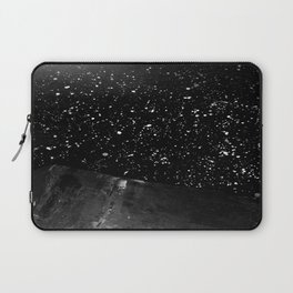 Moon Rising in the dark Black and White Laptop Sleeve