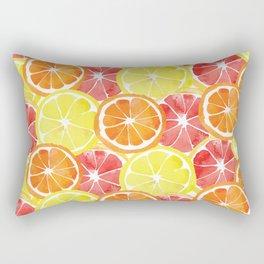 Grapefruit Lemon Orange Pattern Rectangular Pillow