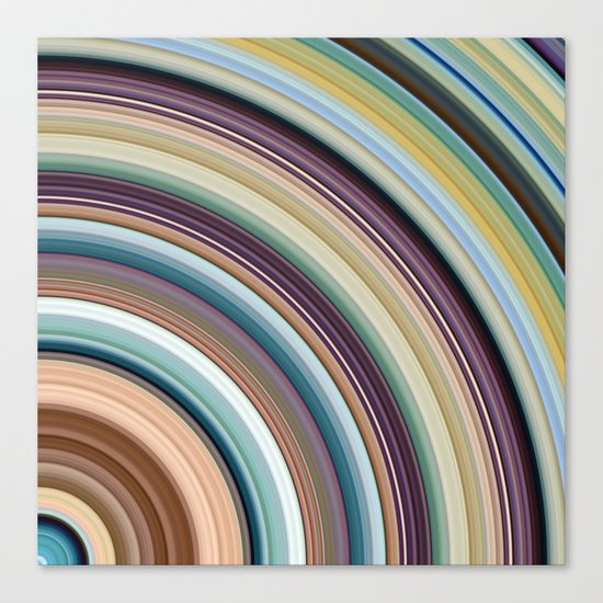 Colorful Planetary Rings Canvas Print