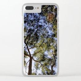 Eucalyptus Tree Canopy Clear iPhone Case