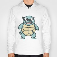 squirtle Hoodies featuring Ash's Squirtle (Squirtle Squad Leader) by Studio Momo╰༼ ಠ益ಠ ༽