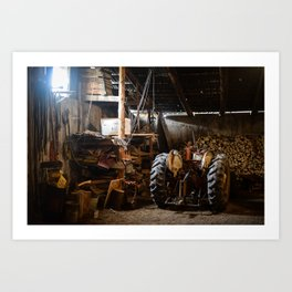 The Tractor Art Print