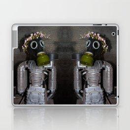 Household robot with gasmask Laptop & iPad Skin
