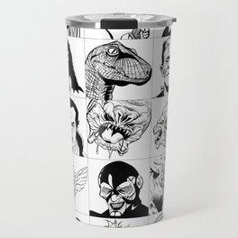 Inktober Monsters Travel Mug