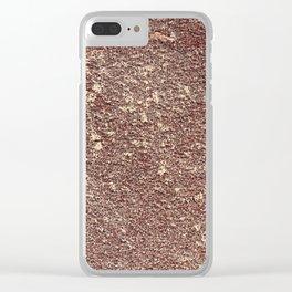 Burgundy Sandpaper Texture Clear iPhone Case