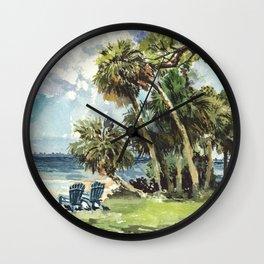 Sarasota Bay from Caples Hall Wall Clock