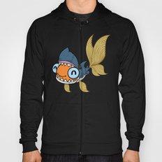 Goldfish in Shark Costume Hoody