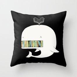 My Book Shelf Throw Pillow