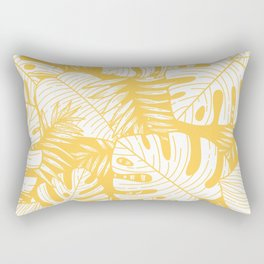 TROPICAL LEAVES ON YELLOW Rectangular Pillow