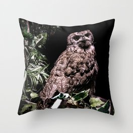 Handsome Hooter Throw Pillow