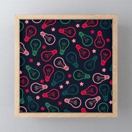 Party Lightbulb Pattern Framed Mini Art Print
