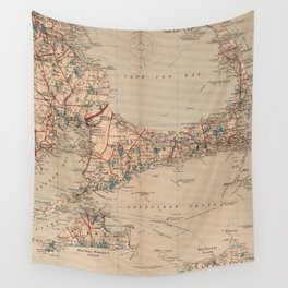 Vintage Map of Cape Cod MA (1905) Wall Tapestry