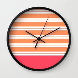 Popsicle Stripes Wall Clock
